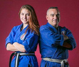 Sensei Lyle with daughter Sensei Raven